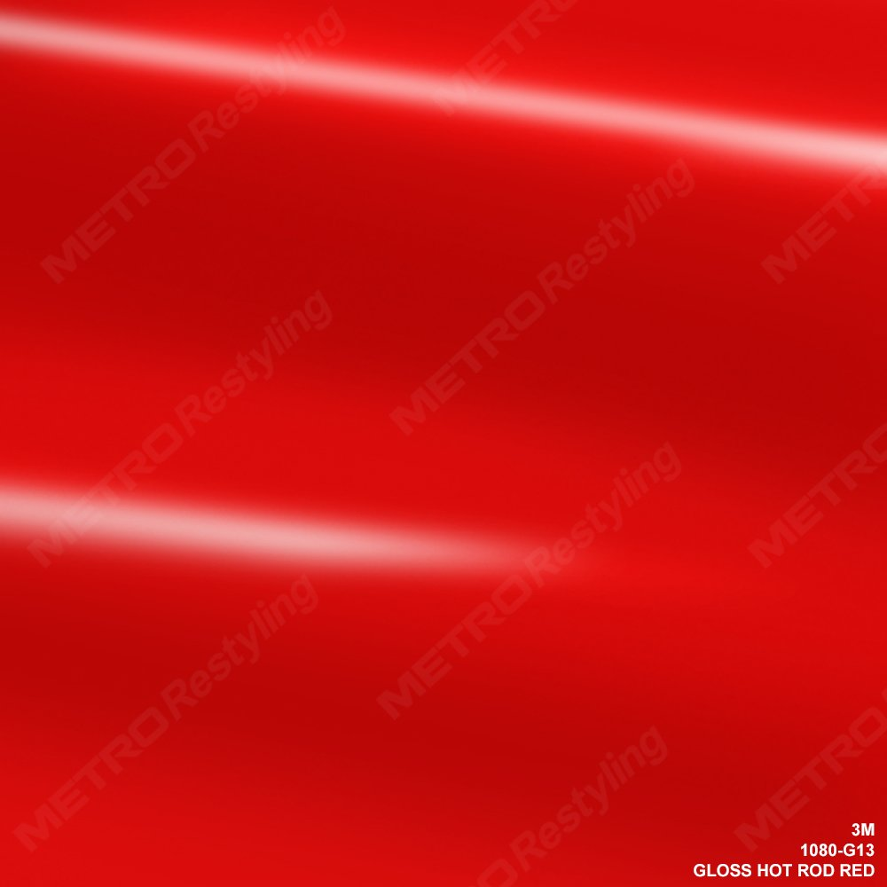 Car Wrap Vinyl Film 3M 1080 G13 GLOSS HOT ROD RED 3in x 5in SAMPLE SIZE
