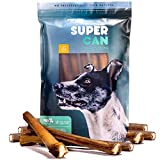SUPER CAN BULLYSTICKS 12-inch MEGA Monster Bully Sticks [ 7 Pack ] 100% Natural Dog Treats. Extra-Large Bully Sticks for Aggressive Chewers and Large Dogs For Sale