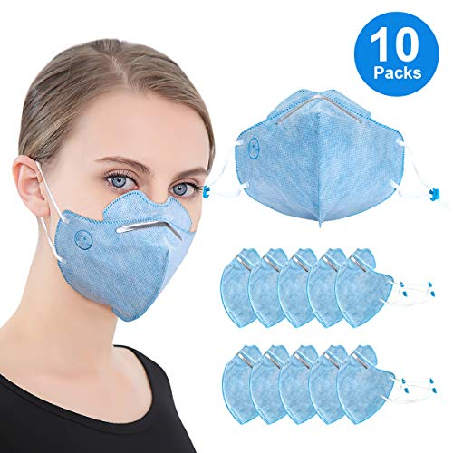 N95 Dust Mask Disposable Particulate Respirator Mask, 3D Anti Air Pollution Dust Mask for Men and Women blue