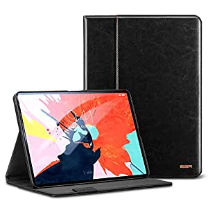 """ESR Intelligent Premium Business Case for iPad Pro 11"""", Folio Stand Cover [Apple Pencil Charging not Supported],Organizer Pocket,Smart Auto Sleep/Wake Compatible for iPad Pro 11"""" 2018 Release, Black"""