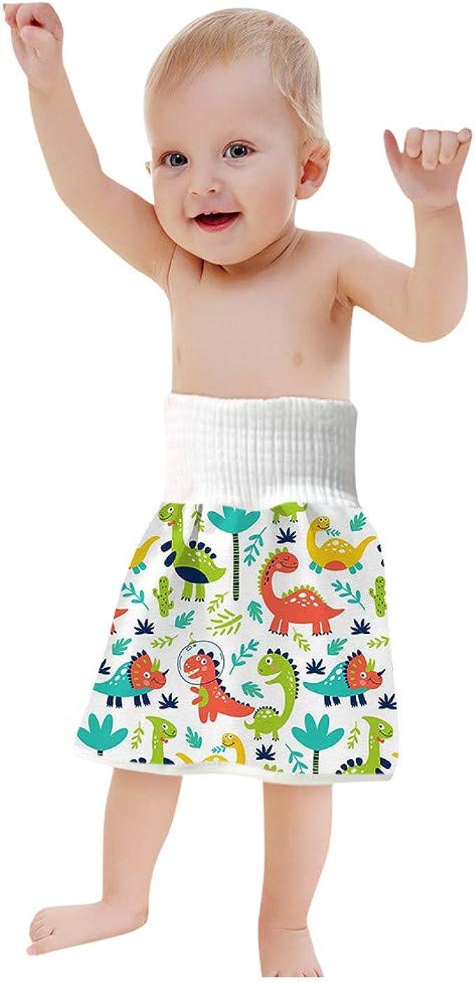 A,M ChicSoleil Baby Windelrock 2 in 1 Wasserdichte und Saugf/ähige Trainingsrock Windelrockshorts Kinderwindeln mit hoher Taille Shorts f/ür 2-4 Jahre Baby Kleinkind Kinder