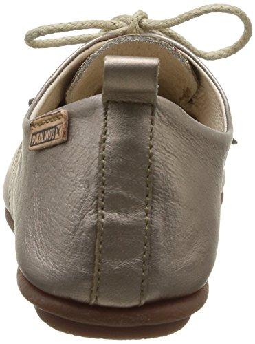 Pikolinos Calabria 917-7123 - Zapatos de Cordones Para Mujer Plateado (ONYX)
