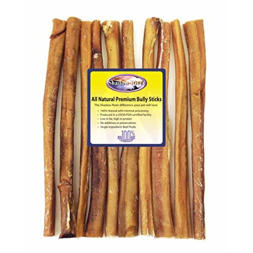 10 Pack 12 Inch Jumbo All Natural Premium Beef Bully Sticks by Shadow River