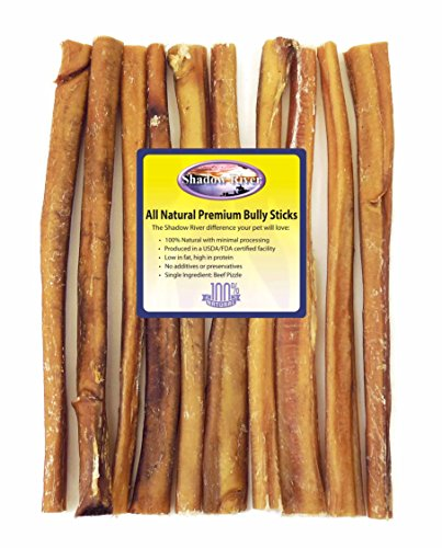 10 pack 12 inch jumbo all natural premium beef bully sticks by shadow river bulldogbackyard. Black Bedroom Furniture Sets. Home Design Ideas