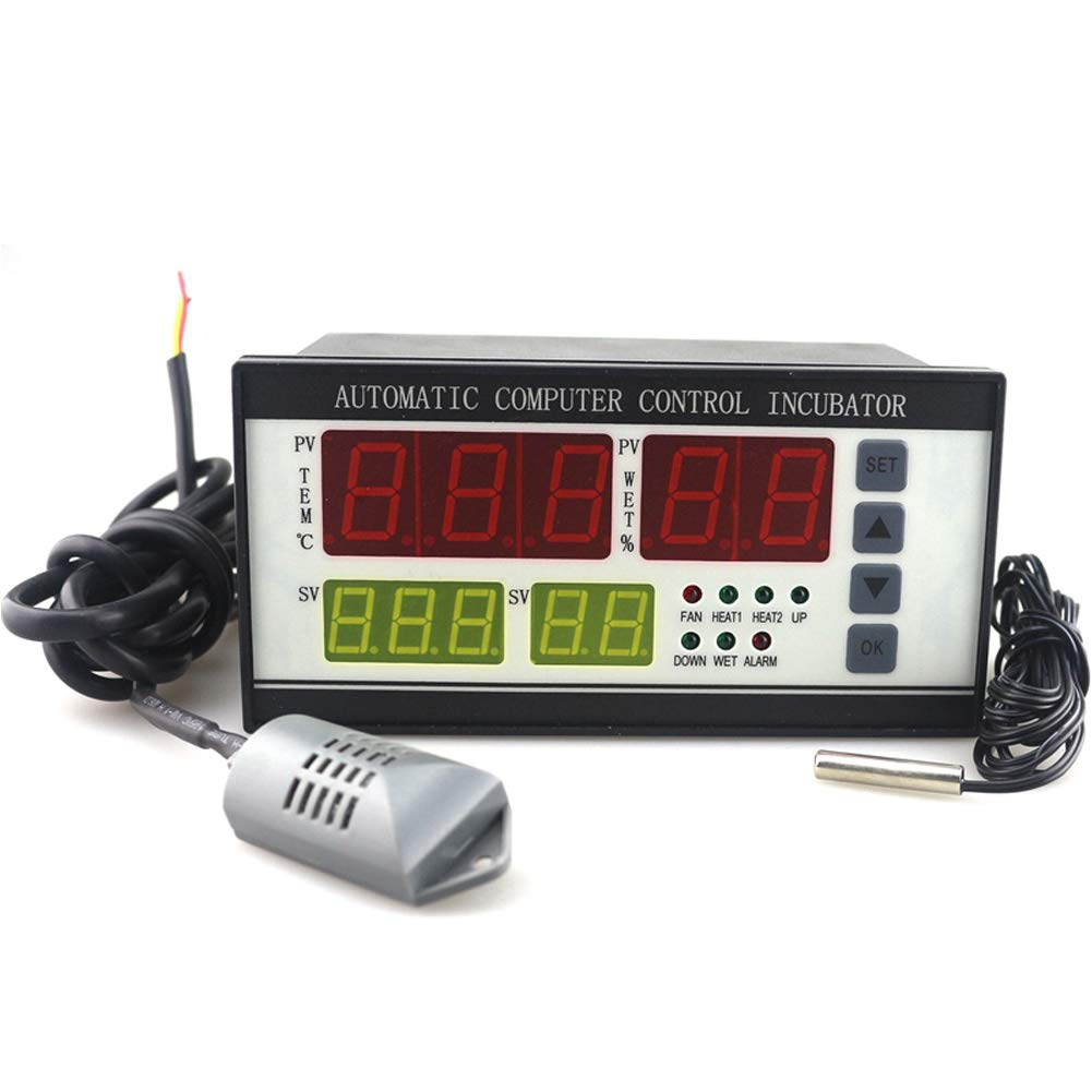 YZmoffer Incubator Controller Automatic Humidity and Temperature Controller for Egg Incubator with Digital Screen Egg Hatcher Temperature Humidity Meter 110V (XM-18) 51rEzj7PVwL
