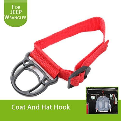 Black JeCar 2 Pack Roll Bar Coat Hook Clothes Hanger for Jeep Wrangler TJ LJ JK JL Sports Sahara Freedom Rubicon X /& Unlimited