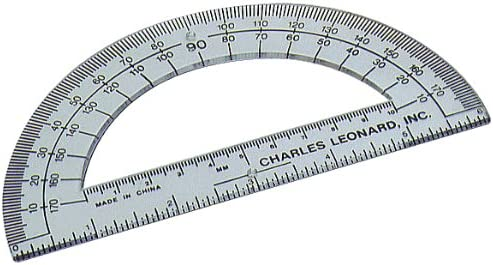 """Charles Leonard 80965 Safety Compass With 6/"""" Swing Arm Protractor"""
