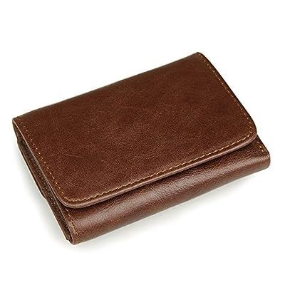 Itslife Men's RFID Blocking Leather Trifold Wallet with Back Pocket
