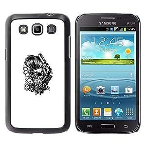 Stuss Case / Funda Carcasa protectora - Engrasador Cráneo - Knuckles y tarjetas - Samsung Galaxy Win I8550