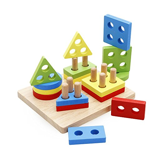 Toys For 5 And Up : Rolimate wooden educational preschool shape color