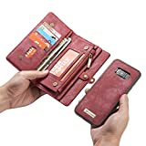 S8 Case,AliceTop Multifunction Removable Zipper Wallet Card Slot - Best Reviews Guide