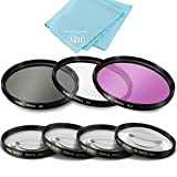 77mm 7 Piece Filter Set for Nikon For Nikon 300mm f/4E, 12-24mm, 16-35mm, 17-55mm, 18-35mm, 18-300mm, 24-70mm, 24-120mm, 28-300mm - Includes 3 PC Filter Kit (UV-CPL-FLD) And 4 PC Close Up Filter Set