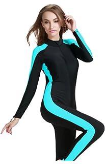 fa1bcf10138c1 YEESAM Scuba Snorkeling Swim Lycra Skin Full Suit Wetsuit Modest Swimwear