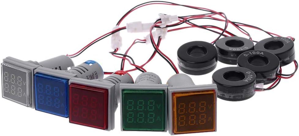 GUOCAO Control Module LDTR-DM26 AC 60-500V 0-100A Square LED Digital Dual Display Voltmeter Ammeter Voltage Gauge Current Meter Modules