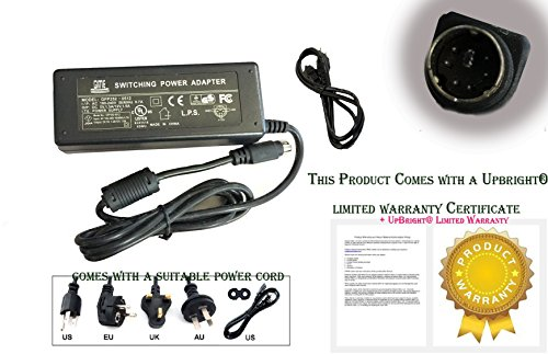 UpBright [UL Listed] New Global 6-Pin DIN AC/DC Adapter for GPS Green Power Model: GPS-W30 Output: 5V 1.5A-2A 12V 1.5A-2A 6-PIN DIN Connector Power Supply Cord Cable PS Mains PSU (1)