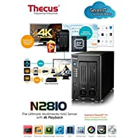 Thecus | N2810 | Thecus N2810 2 bay NAS, ThecusOSTM 7.0, Seamless 4K Multimedia Playback, DDR3 Network Attached Storage NAS