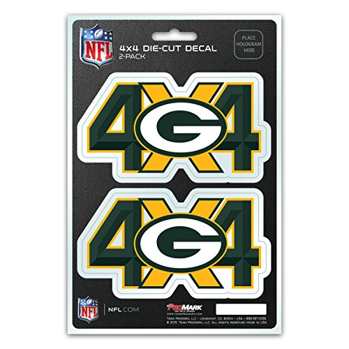 (NFL Green Bay Packers 4x4 Team Decal, 2-Pack)