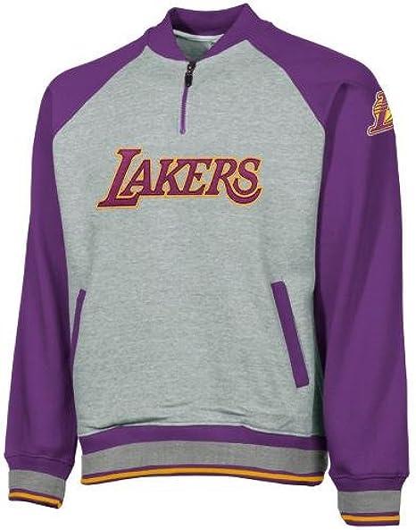 Amazon Com Los Angeles Lakers Nba Youth Big Boys 1 4 Zip Pullover Sweatshirt Gray Small Athletic Sweatshirts Clothing