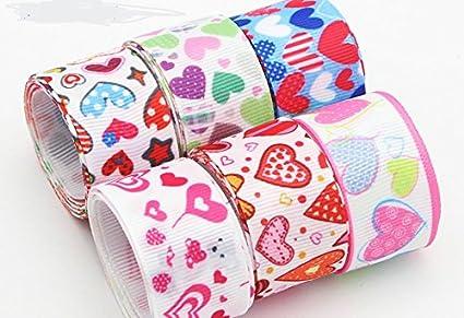 6 unds cintas corazones algodon saten perfectas para mil ideas lazos pelo, canastillas, vestiditos