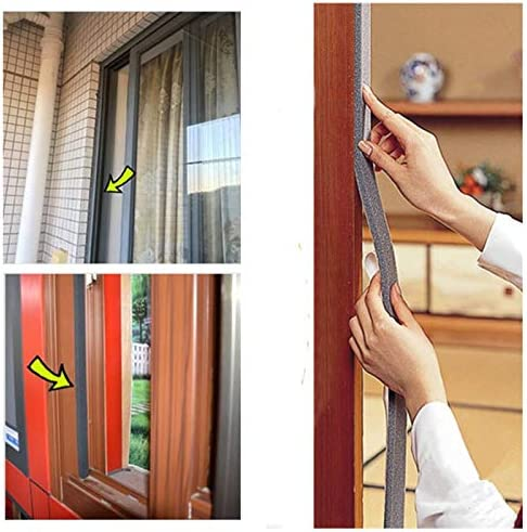 HUADE Foam Tape Weather Strip,Self-Adhesive Closed Cell Foam Weatherstripping Seal Tape//sound and heat insulation dusting sealing tape Window Accessorie