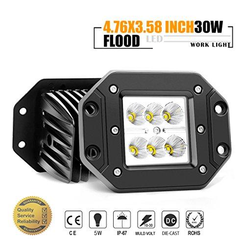 JAHURD-LED-Car-Lights-Spot-Flood-Beam-Driving-Fog-Lights-Bar-bottom-adjustable-Bracket-Waterproof-Work-for-Off-Road-SUV-4X4-Cars-Jeep-Boat-Outdoor