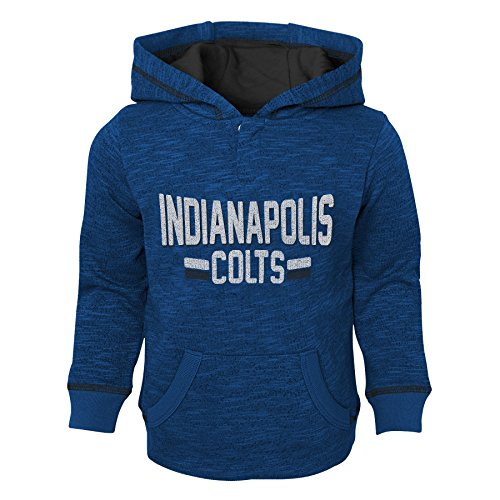 Outerstuff NFL Indianapolis Colts Toddler Tiny Linemen Slub Fleece Hoodie, Speed Blue, 3T ()