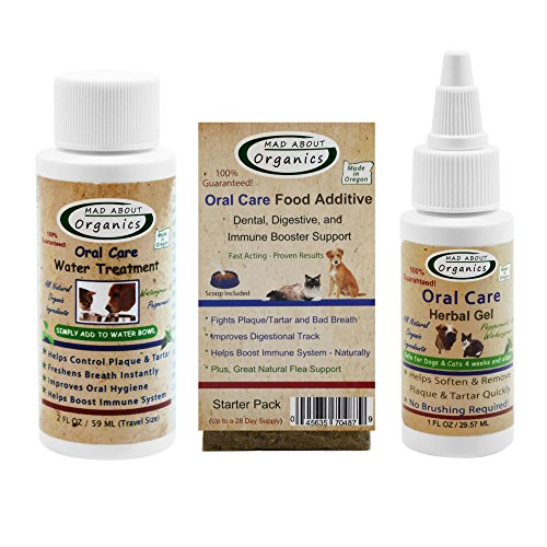 Mad About Organics All Natural Dog & Cat Oral Care Dental Plaque Remover Starter - About Starter