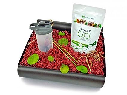 Fitness Box - jarro de plata (Sport alimentos botella sin BPA fabricados +) -