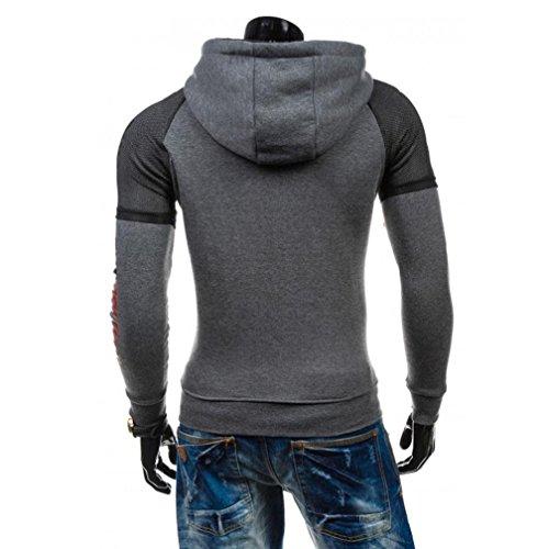 575b51392 best TONSEE Mens Printed Hoodie Winter Warm Hooded Sweatshirt Coat Jacket  Outwear