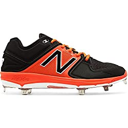 New Balance Lowcut 3000v3 Mens Cushioning Metal Baseball Cleat 11 Black-orange