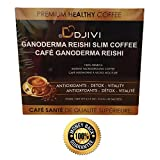 Dodjivi Ganoderma Reishi Mushroom Slim Coffee, 9-in-1 Ganoderma Instant Coffee Blend- Dairy FREE, Paleo All Natural Superfood - (30 Bags Per Box)