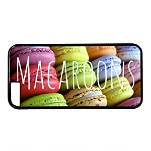 """Colorful Macaroons Theme Case for iPhone 6 Plus (5.5"""") PC Material Black"""