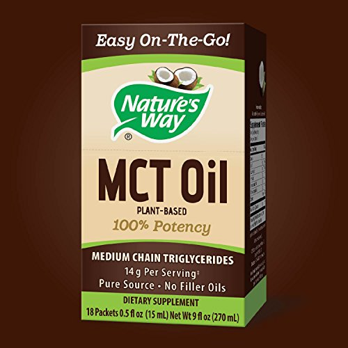 Nature's 100% Pure Source MCT Oil from Coconut- On-The-Go Packets- Vegetarian, Gluten-Free, No Filler 18