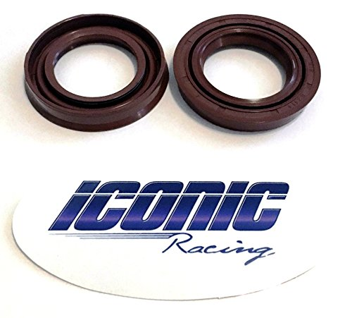 Iconic Racing Rear Differential Gear Case Axle Shaft Oil Seals Compatible With Polaris RZR 800 S 4 2008-2014