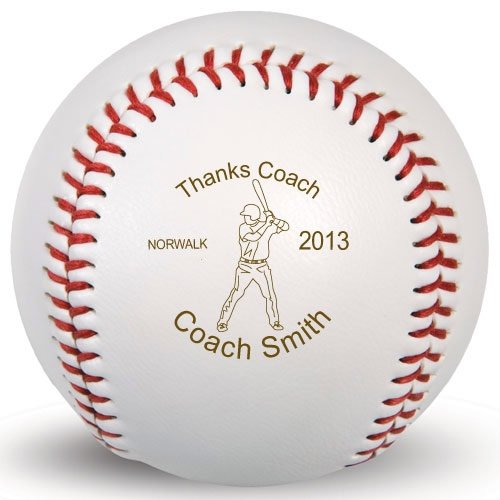 Personalized Engraved Thanks Coach Baseball | Custom Baseballs by ChalkTalk Sports (Baseball Coach Thanks)