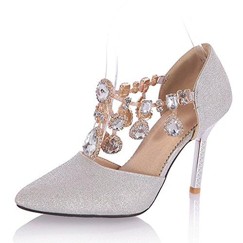 Fashion Heel - Zapatos de tacón  mujer plata