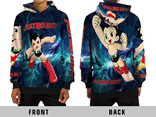 Demonic The Mighty Atom (Astro Boy) All Over Sublimation Print Pull Over Hoodie (Large) ()