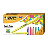 BIC Brite Liner Highlighter, Chisel Tip, Assorted Colors, 12-Count Deal (Small Image)