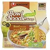 Nongshim NS01682 Savory Beef Bowl Noodle Soup, 1.03-Kilogram