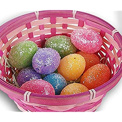 Holiday Decor Fillable Easter Eggs -Bright Color Glitter - Set of 12: Garden & Outdoor