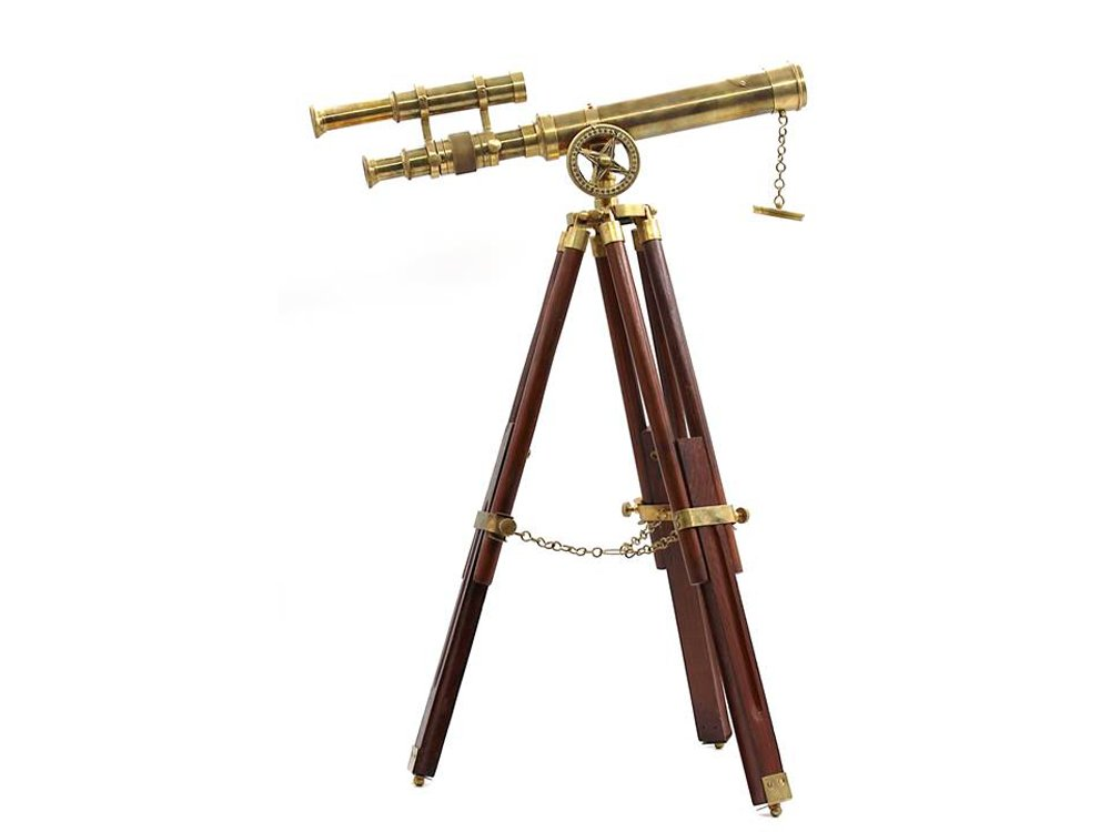 Roorkee Vintage Brass Telescope with Tripod Stand/Antique Desk Top Telescope for Home Decor/Nautical Spyglass Telescope for Navy and Outdoor Adventures