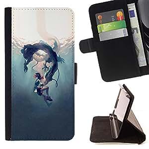 Momo Phone Case / Flip Funda de Cuero Case Cover - Underwater Fairytale Story Niños - Sony Xperia Z1 Compact D5503