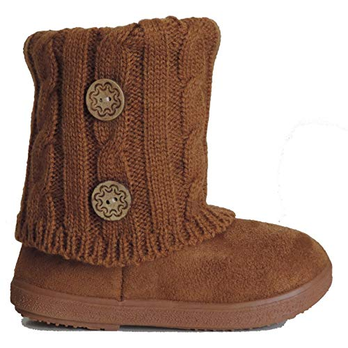 Picture of EyesOnStyle New Girls Toddlers Kids Slouch Comf Midcalf Suede Boots Shoes
