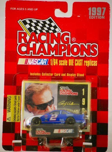 Rusty Wallace Nascar Card (Racing Champions 1997 Edition Rusty Wallace 1/64 Scale Die)