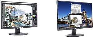 """Sceptre E205W-1600 2020 20"""" 75Hz Ultra Thin LED Monitor HDMI VGA Build-in Speakers, Metal Black & E205W-16003R 20"""" 75Hz Ultra Thin LED Monitor 2X HDMI VGA Built-in Speakers, Metallic Black 2018"""