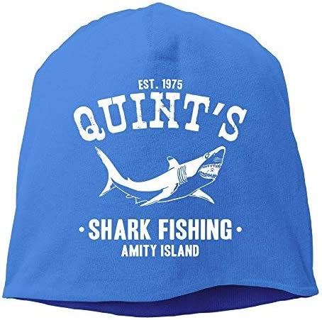 Quints Shark Fishing Jaws Beanies Caps Skull Hats Unisex Soft Cotton Warm Hedging Cap,One Size