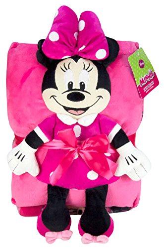 Disney Minnie Mouse Junior Snuggle Set (Minnie Mouse Fleece Blanket)