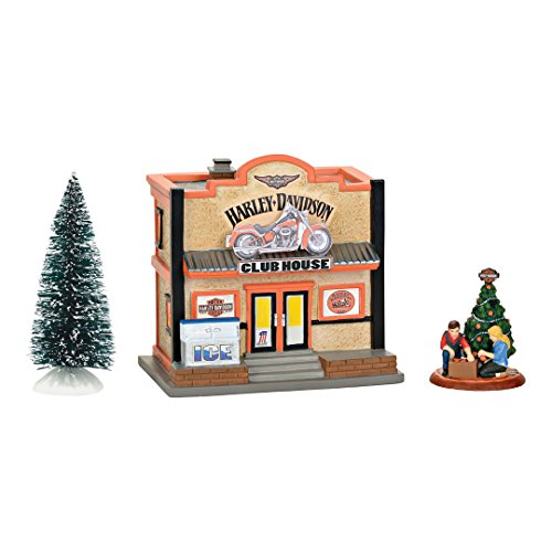 Department 56 Hdnvl Harley Clubhouse Box Set Lit_house