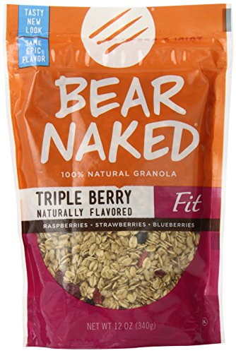 Bear Naked Granola Pouches, Triple Berry Fit, 12 Ounce (Pack of 6)