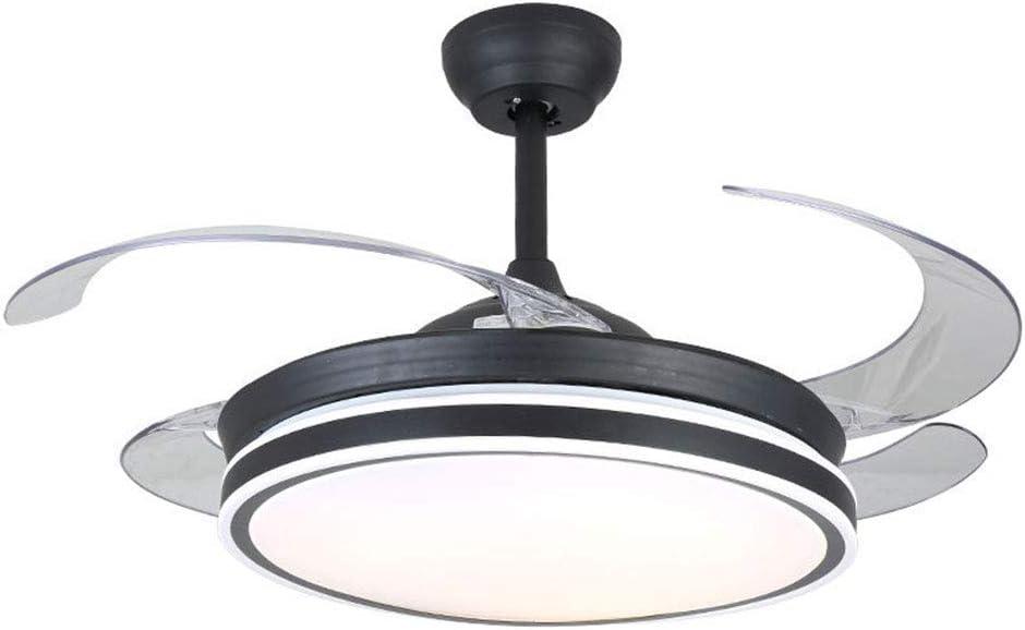 Ventilador de techo con iluminación y control remoto Negro 3 luces ...